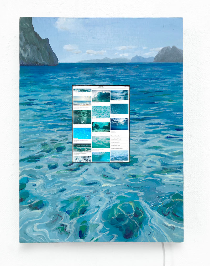 Island Hopping,  2019, oil on panel, digital image of Google Image search on digital device 2019